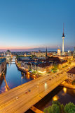 Downtown Berlin at night Stock Image