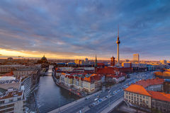 Downtown Berlin at sunset Royalty Free Stock Image