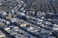 Downtown Beverly Hills California Aerial Stock Images