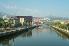 Downtown Bilbao Royalty Free Stock Photos