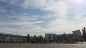 Downtown Bishkek, Kyrgyzstan stock video
