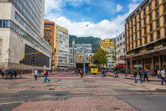 Downtown Bogota and Transmilenio Royalty Free Stock Photos