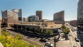 Downtown Boise Idaho buildings and road Royalty Free Stock Images