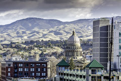 Downtown Boise Idaho with the capital building Stock Photo