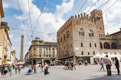 Downtown Bologna Royalty Free Stock Photography
