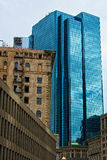Downtown Boston. Historical and high rise modern office buildings in Boston city, Massachusetts, U.S.A Royalty Free Stock Photos