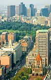 Downtown Boston Aerial View Stock Photography