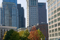 Downtown Boston in the Fall Stock Photos