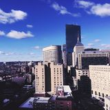 Downtown Boston Massachusetts Tall Buildings Royalty Free Stock Image