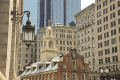 Downtown Boston, with Old State House Royalty Free Stock Photography