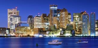 Downtown Boston Panorama Royalty Free Stock Photo
