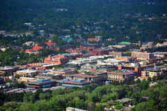 Downtown Boulder, Colorado on a Sunny Day Stock Photos
