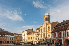 Downtown Brasov City Royalty Free Stock Photo