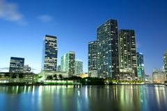 Downtown and Brickell district in Miami. Downtown and Brickell district, Miami, Florida, USA Stock Image