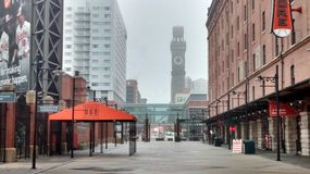 Downtown bromotower camden yards Royalty Free Stock Photo