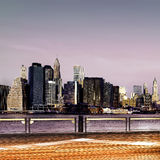 Downtown Brooklyn skyline Royalty Free Stock Photography