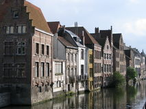Downtown bruges. Journey through Belgium, in 2010, the city of Bruges, walking tour through the scenic downtown Royalty Free Stock Photo
