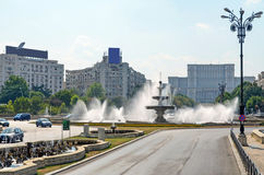 The Downtown of Bucharest. Bucharest, Romania. Visiting the downtown Royalty Free Stock Photos