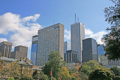 Downtown buildings. In Toronto, Ontario, Canada royalty free stock images