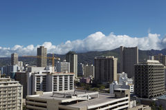 Downtown buildings in Hawaii Daytime Stock Photo
