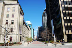 Downtown buildings in Ottawa, Canada stock photos