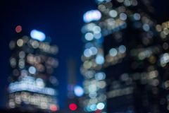 Downtown Buildings set in an bokeh blurred setting. Downtown LA building set in a dark bokeh setting Stock Images