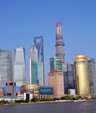 Downtown buildings. Taken in Shanghai, May 13, 2013 Royalty Free Stock Photography