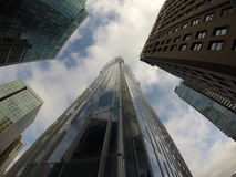 Downtown Buildings Vancouver. Glass Buildings. Royalty Free Stock Photos