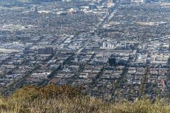 Downtown Burbank Hilltop View Royalty Free Stock Photography