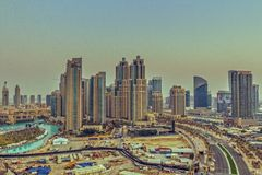 Downtown Burj Dubai Stock Image
