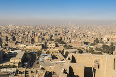 Downtown of Cairo seen from the Saladin Citadel (Egypt) Stock Image