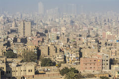 Downtown of Cairo seen from the Saladin Citadel, Egypt Royalty Free Stock Photo