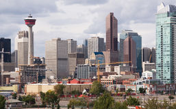 Downtown Calgary stock photo