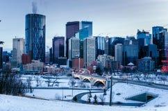 Downtown Calgary at Dusk Royalty Free Stock Photography