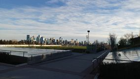 Downtown Calgary From Sait Campus royalty free stock photos