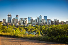 Downtown Calgary skyline Royalty Free Stock Images