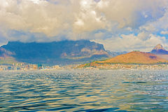 Downtown Cape Town with Table Mountain Stock Photo