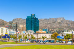 Downtown Cape Town with Table Mountain Royalty Free Stock Photos