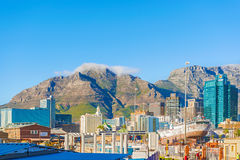 Downtown Cape Town with Table Mountain Stock Photos
