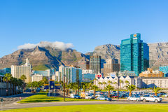 Downtown Cape Town with Table Mountain Stock Images