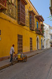 Downtown Cartagena street Stock Photos
