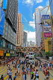 Downtown causeway bay, hong kong Royalty Free Stock Photography