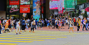 Downtown causeway bay, hong kong Stock Photos
