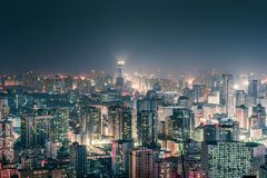 Downtown CBD night view stock images