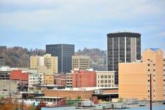 Downtown Charleston, West Virginia. Skyline royalty free stock image