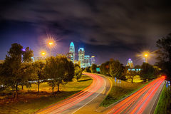 Downtown of Charlotte North Carolina skyline Stock Photography