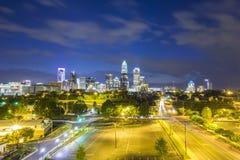 Downtown Charlotte  North Carolina skyline Stock Images