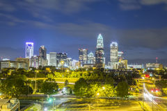 Downtown of Charlotte  North Carolina Stock Photography