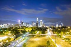 Downtown Charlotte  North Carolina skyline Stock Photos