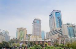 Downtown chengdu Stock Photo